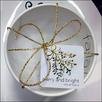 Christmas Tableware Tied Merry and Bright