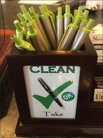 Recycle or Reuse Clean vs Dirty Pens