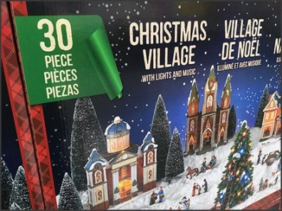 Costco Multilingual Christmas Village In A Box 3
