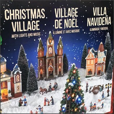 Multilingual Christmas Village In A Box