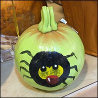 Scary Halloween Painted Pumpkins Ready-to-Go