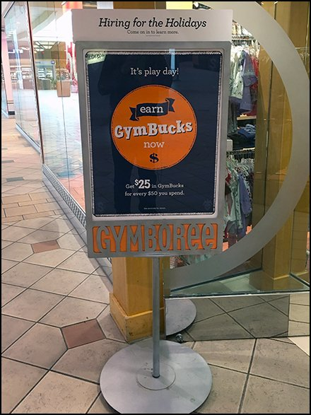Gymboree Hiring For The Holiday Sign Eyebrow