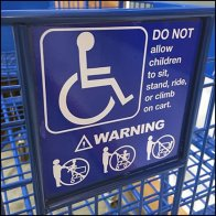 Child Warning For Handicapped Shopping Cart