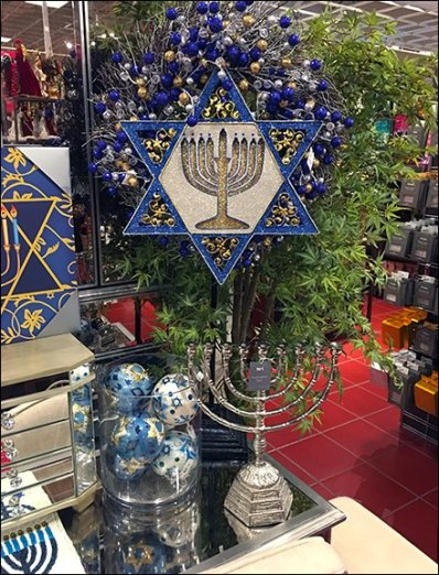 ornate happy hanukkah at pier 1 imports fixtures up