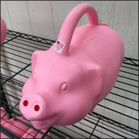 Hillside Farms Piggy Watering Cans Feature