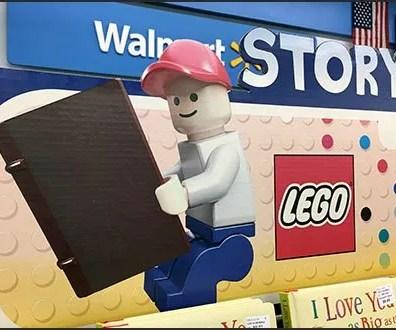 Lego Early Readers Book Rack Branding