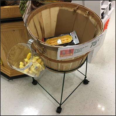 Mobile Wireform Bushel Basket Holder