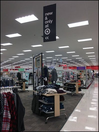 New and Only At Target Ceiling Sign