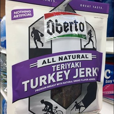 Oberto Turkey Jerky Strip Merchandiser
