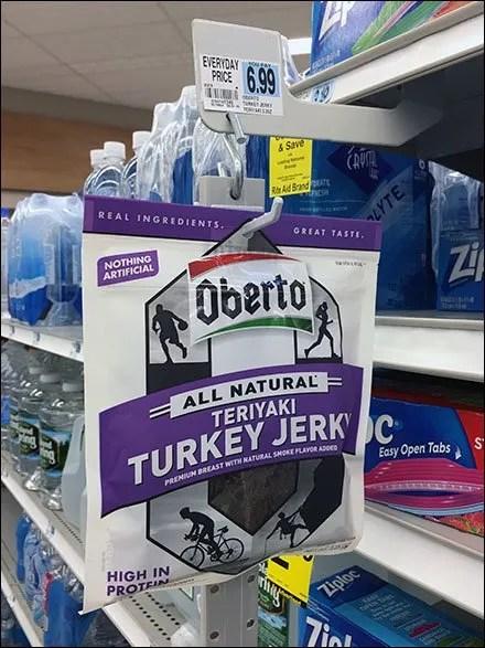 Oberto Turkey Jerky Strip Merchandiser