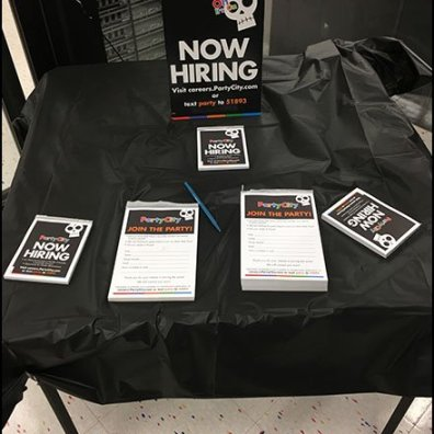 Halloween Hiring Table At Party City
