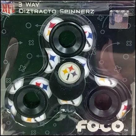 Pittsburg Steeler Fidget Spinner Back Labeled
