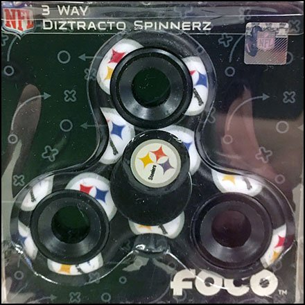 Pittsburg Steeler Fidget Spinner Back Labeled