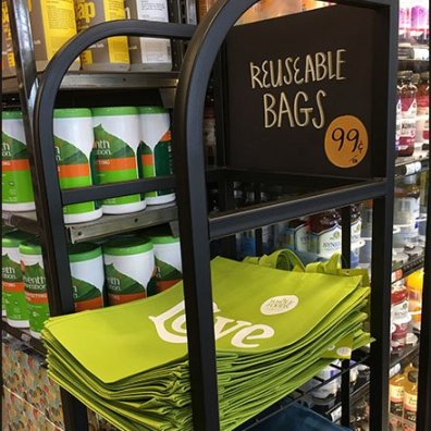 Love Reusable Shopping Bag At Whole Foods