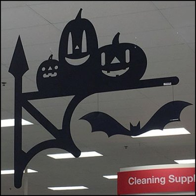 Booporium Halloween Aisle Marker Signs