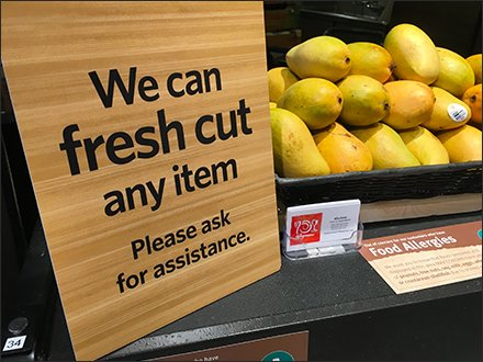 We Can Fresh Cut Any Item Green Grocer Promise