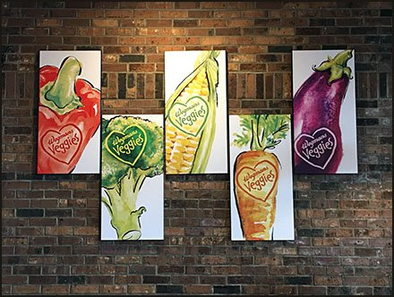 Vibrant Veggies In-Store Art Masterpieces