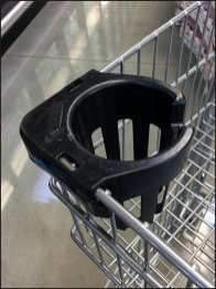 Shopping Cart Cup Holder at Whole Foods