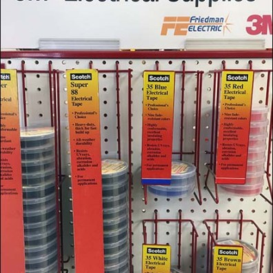 Electrical Supplies Endcap Display by 3M