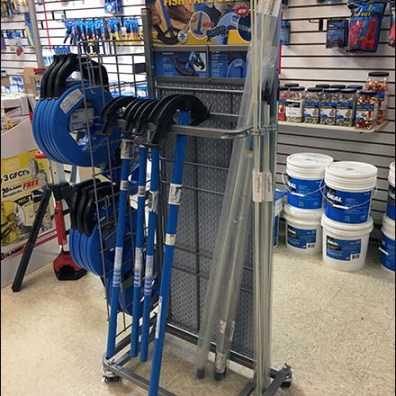 Conduit Bender and Fish Tape Display Rack
