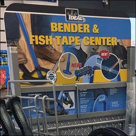 Conduit Bender and Fish Tape Display Rack