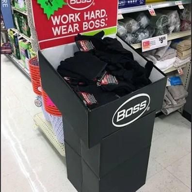 Boss Hard Working Glove Corrugated Display