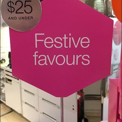 Table Stand Signs Of Clinique Christmas Wishes