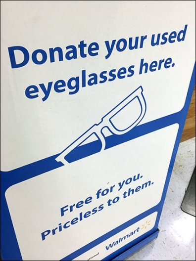 Donate Your Used Eyeglasses Here
