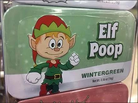 Elf, Snowman, and Reindeer Poop Merchandiser