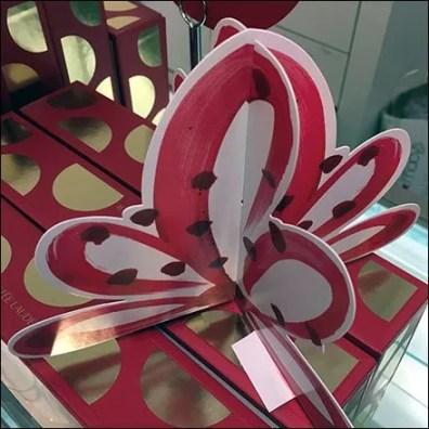 Dimensional Cardboard Bow Does Estee Lauder