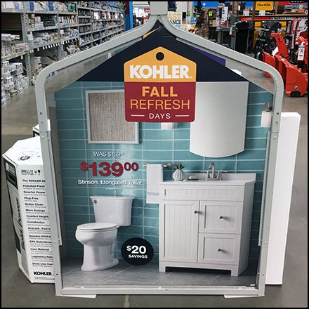 Toilet Store Fixtures and Merchandising - Fall Toilet Refresh Display by Kohler