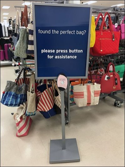 Perfect Purse V.I.P. Call Button Sales Strategy