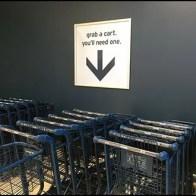Grab A Shopping Cart Directional