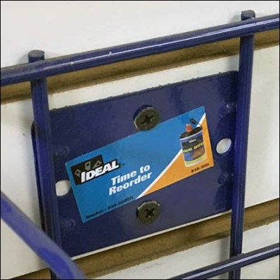 Time-To-Reorder Back Tag For Ideal Wipes