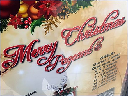 Christmas Pageant Mall Concourse Advertising