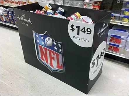 NFL Tableware Display By Hallmark