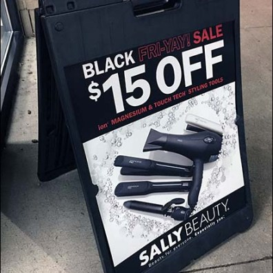 Sally Beauty Black Friday Sale Easel