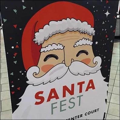 Floorstand Foamcore Signholder For Santa Fest