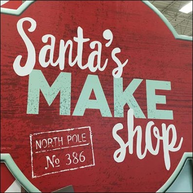 Santa's North Pole Work Shop Feature