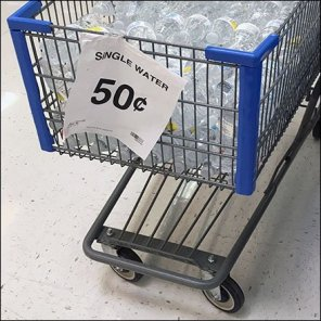 Shopping Cart Spring Water Feature