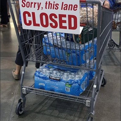 Shopping Cart Sorry Chashwrap Closed Sign