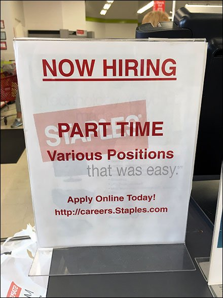 Hiring Part-Time Various Positions