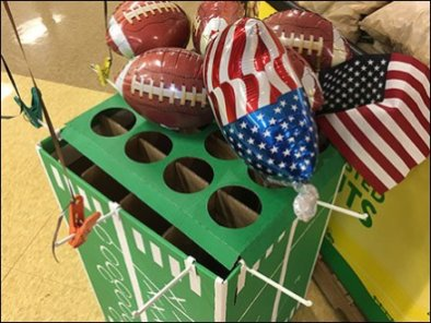 NFL Steelers Football Balloon Binder Clip