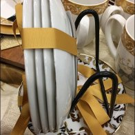 Strawberry Street Ribbon Bow Tied Christmas Tableware 2