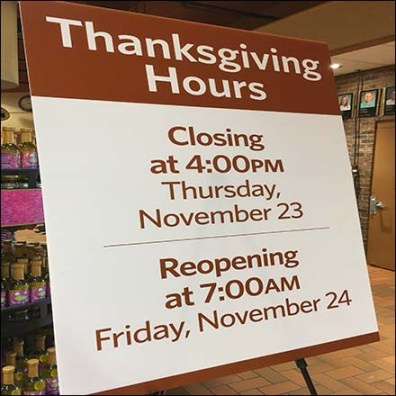 Extended Wegmans Thanksgiving Holiday Hours