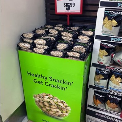 Get Crackin'With Healthy Snackin'Pistachio Display