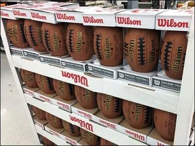 Wilson NFL Football Lineup Pallet Merchandising 2