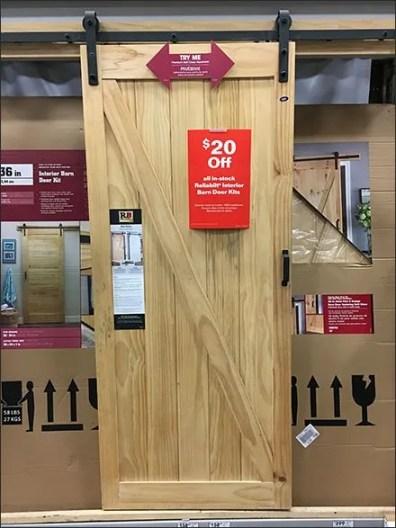 Working Barn Door Hardware Display In-Store