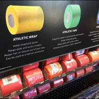 Gravity Feed Color-Coded Athletic Bandages