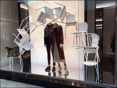 Burberry Winter Plaid Window Chair Cascade